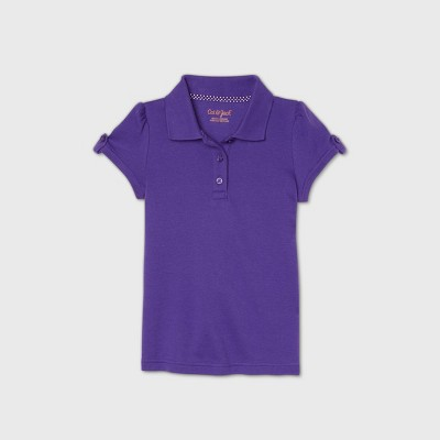 Toddler Girls' Short Sleeve Interlock Uniform Polo Shirt - Cat & Jack™