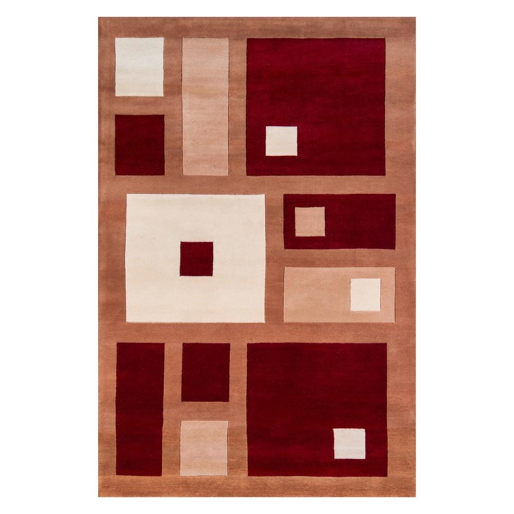 8'X11' Geometric Tufted Area Rug Red - Momeni