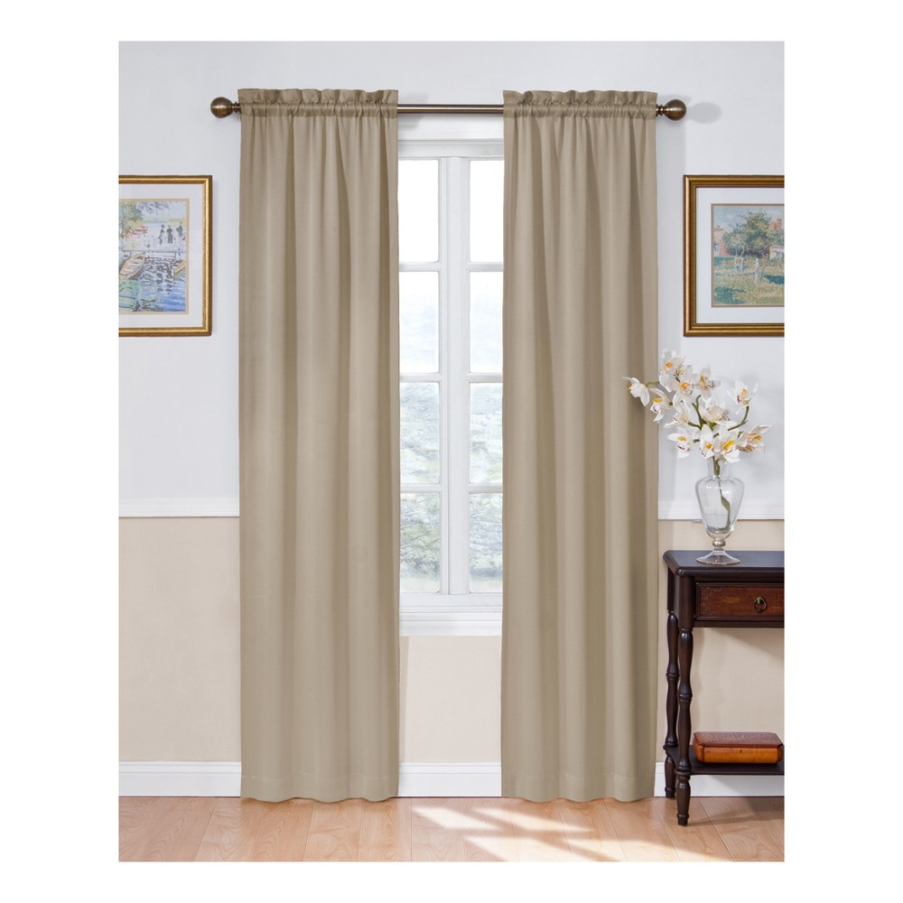84 34 X54 34 Solid Thermapanel Room Darkening Curtain Panel Taupe Eclipse
