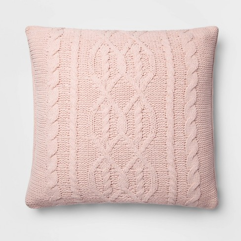 Cable Knit Chenille Throw Pillow - Threshold™ - image 1 of 3