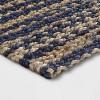 "2'4""X7' Runner Design Flatweave Woven Tie Dye Indigo - Threshold™ - image 2 of 3"