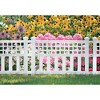 Suncast Grand View 14.5 x 24 Inch Resin Yard Garden Border Fence, White (3 Pack) - image 3 of 3