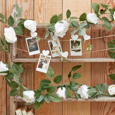 Floral Garland Party Decoration Off White