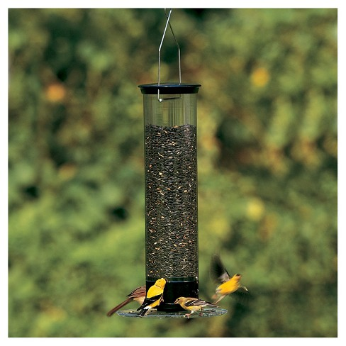 Droll Yankees Yankee Tipper Collapsing Tray Squirrel Proof Bird Feeder Black 21
