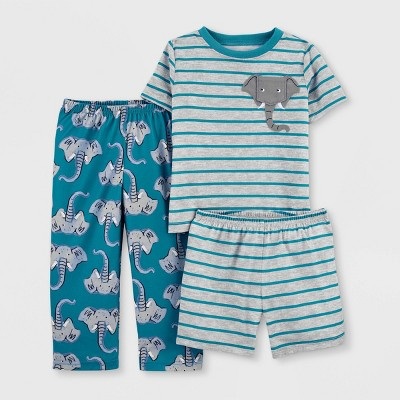 Toddler Boys' 3pc Elephant Pajama Set - Just One You® made by carter's Blue/Gray
