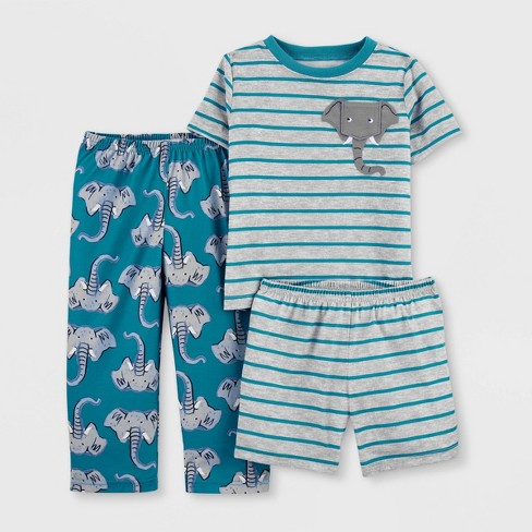 Toddler Boys' 3pc Elephant Pajama Set - Just One You® made by carter's Blue/Gray - image 1 of 2