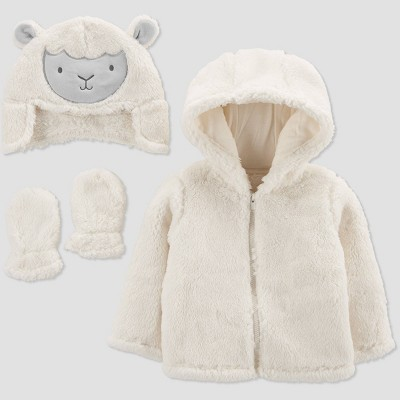 Baby Sheep Jacket - Just One You® made by carter's Off-White 9-12M