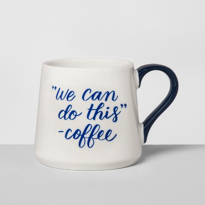 Porcelain We Can Do This Mug 16oz White/Blue - Threshold™