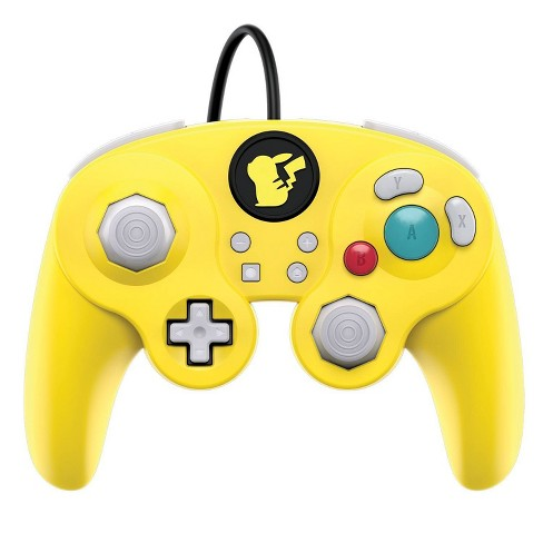 Nintendo Pokemon Pikachu Wired Fight Pad Pro Controller for Nintendo Switch - Yellow - image 1 of 4