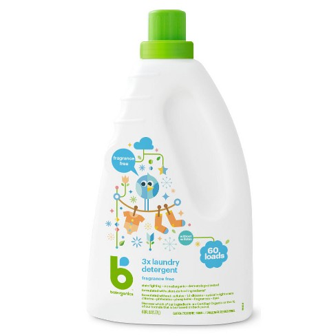 Babyganics 3x Laundry Detergent, Fragrance Free - 60oz - image 1 of 3