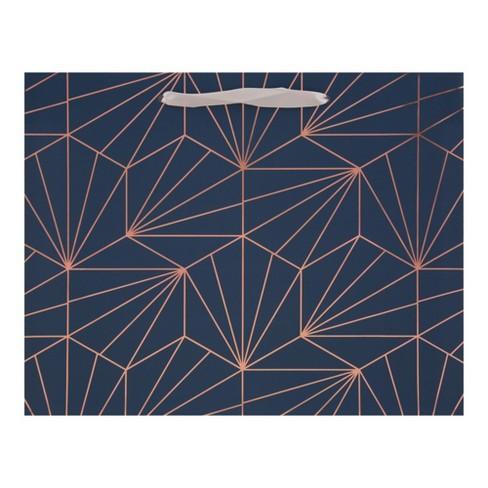Large Vogue Geometric Gift Bag Navy - Spritz™ - image 1 of 2