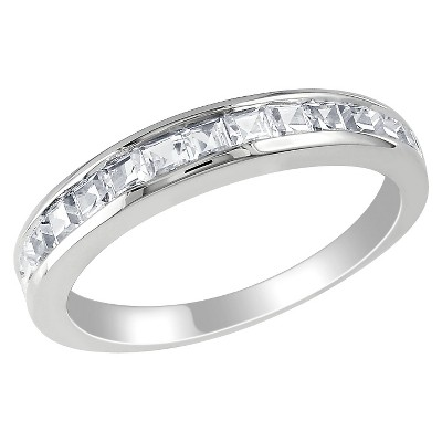 3/4 CT. T.W. Created White Sapphire Eternity Ring in Sterling Silver