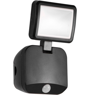 Energizer 250 Lumens Outdoor LED Motion Sensing Single Head Security Light Black