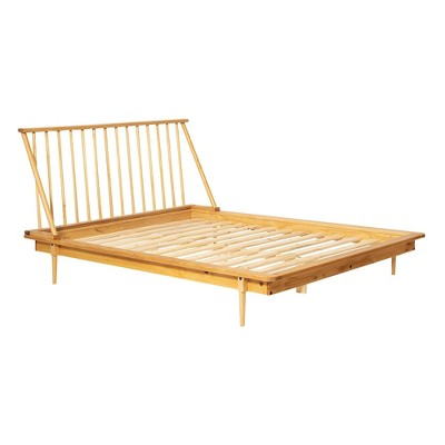 Queen Mid-Century Modern Solid Wood Spindle Bed - Saracina Home
