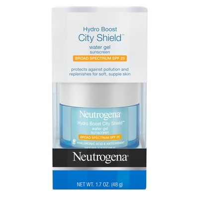 Facial Moisturizer: Neutrogena Hydro Boost City Shield Water Gel