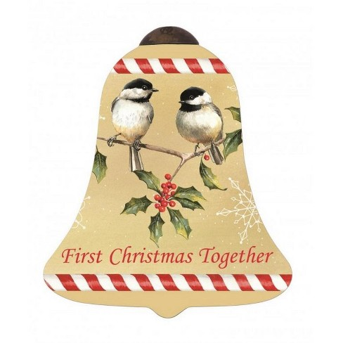"""NeQwa 4.5"""" """"First Christmas Together"""" Hand-Painted Blown Glass Christmas Ornament - Brown/Red - image 1 of 2"""