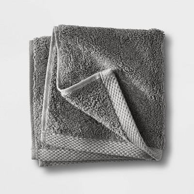Organic Washcloth Dark Gray - Casaluna™