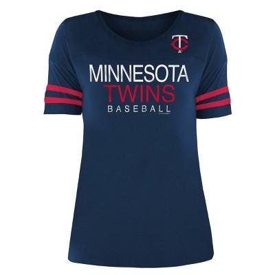 MLB Minnesota Twins Women's Poly Rayon T-Shirt