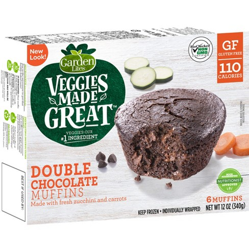 Garden Lites Veggies Made Great Frozen Double Chocolate Muffins - 12oz/6ct - image 1 of 4