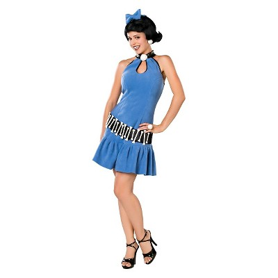 Adult The Flintstones Betty Halloween Costume Blue