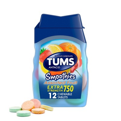 Tums Extra Strength Smoothie Assorted Fruit