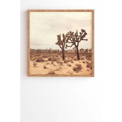 """30"""" x 30"""" Catherine McDonald California Joshua Trees Framed Art - Deny Designs"""