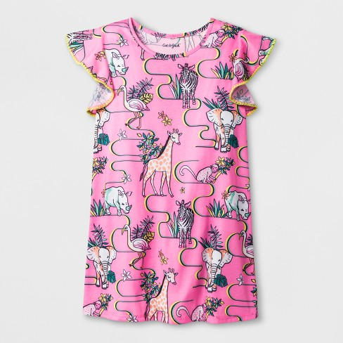 3ddd397e74 Girls  Animals Printed Nightgown - Cat   Jack™ Pink   Target