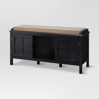 Windham Entryway Bench - Black - Threshold™