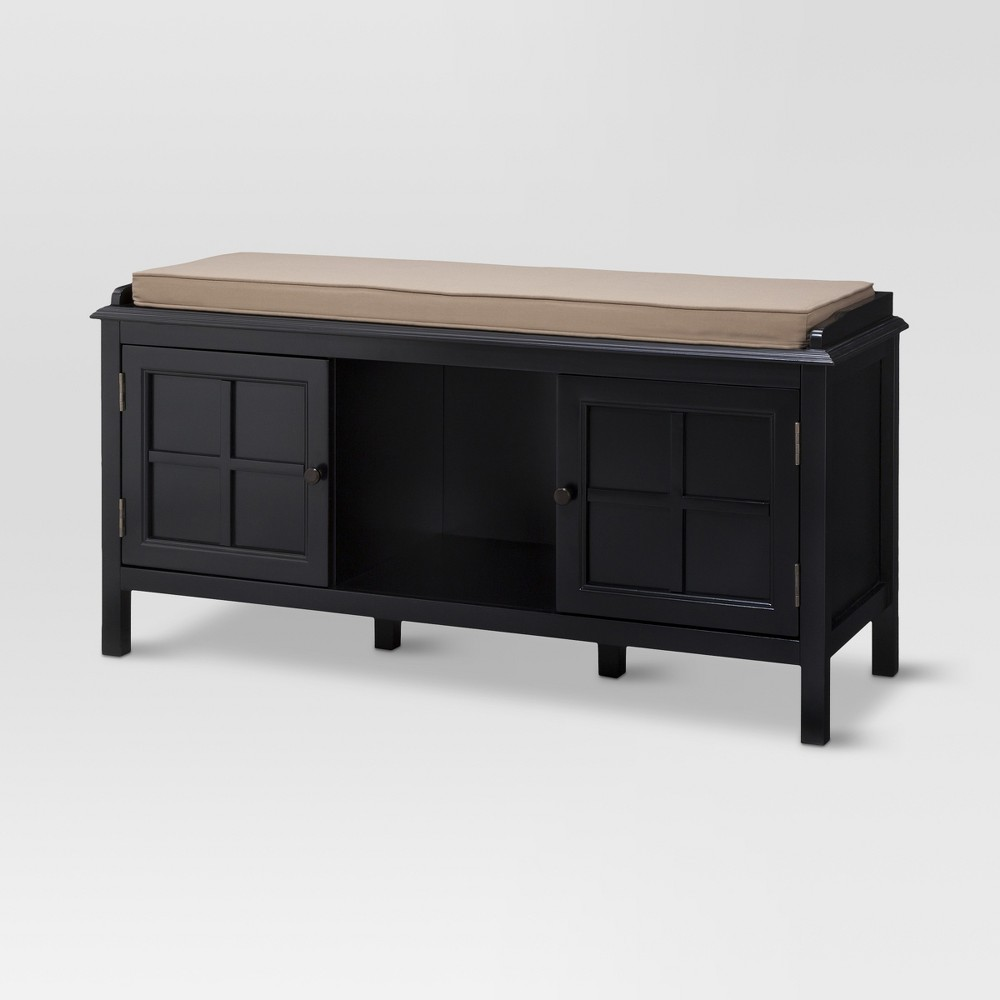 Windham Entryway Bench - Black - Threshold was $189.99 now $94.99 (50.0% off)