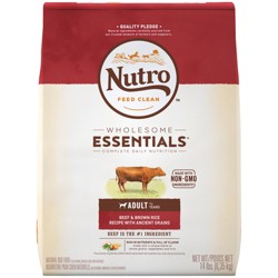 Nutro Beef & Brown Rice With Ancient Grains Dry Dog Food - 14lb