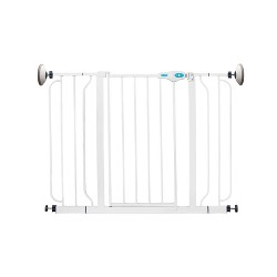 Regalo Extra Wide Span 56 Inch Walk Through Baby Gate with 4 Pack of Wall Mounts