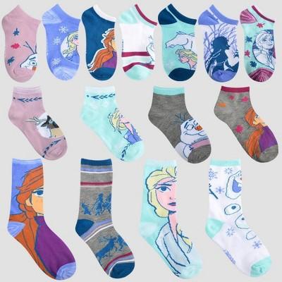 Disney Frozen 3 PK Socks 6-8 Size 100/% Polyester Clothing