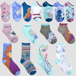 Girls' Disney Frozen II 15 Days of Socks Advent Calendar - Colors May Vary