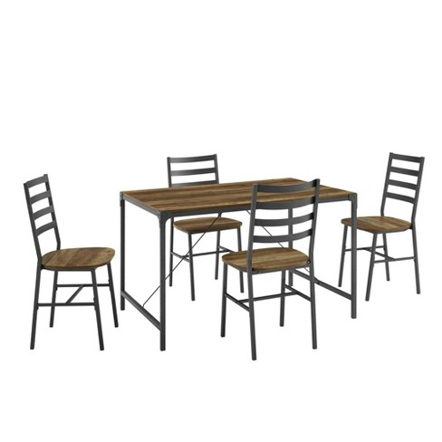 5pc Industrial Angle Iron Dining Set - Saracina Home - image 1 of 4