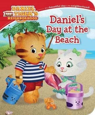 Daniel's Day at the Beach ( Daniel Tiger's Neighborhood) - by Becky Friedman (Board Book)