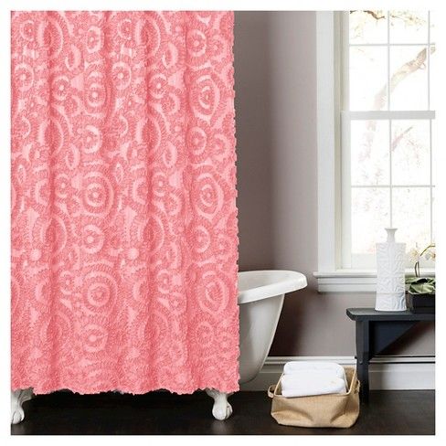 Stella Shower Curtain - Pink - image 1 of 1