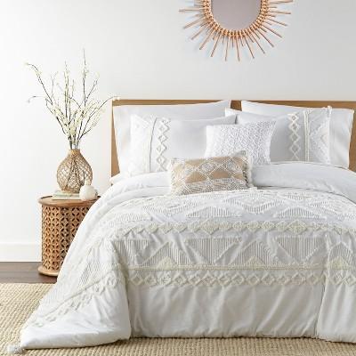 Harleson - Comforter Set - Cream & White - Levtex Home