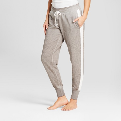 Women's Side Stripe Jogger Pajama Pants - Xhilaration™ Gray - image 1 of 2