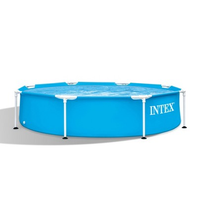 "Intex 28205EH 8' X 20"" Rust Resistant Durable Steel Metal Frame Outdoor Backyard Circular Swimming Pool with Reinforced Sidewalls (Pump Not Included)"