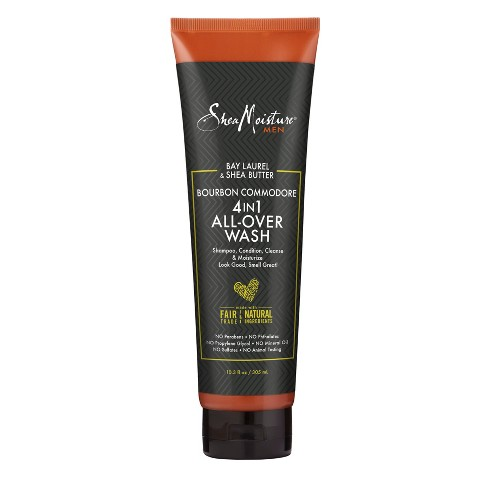 SheaMoisture Bay Laurel & Shea Butter Bourbon Commodore 4-in-1 All-Over Wash for Men - 10.3 fl oz - image 1 of 4