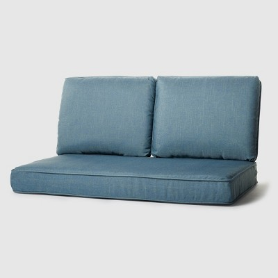 Rolston 3pc Outdoor Replacement Loveseat Sofa Cushion Set Niagara Blue - Haven Way
