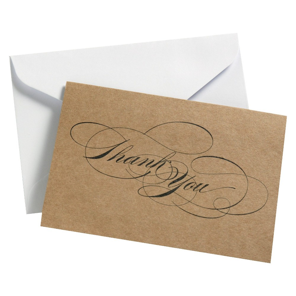 "Image of ""24ct """"Thank You"""" Script Cards Black"""