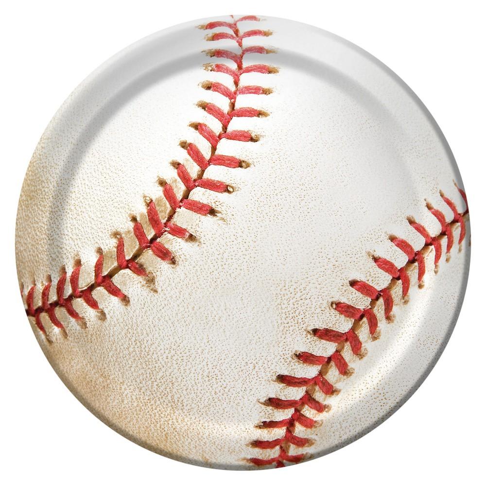 "Image of ""Baseball 7"""" Dessert Plates - 8ct"""