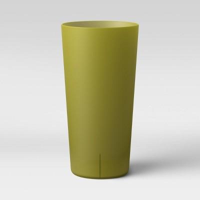 26oz Plastic Tall Translucent Tumbler Dark Green - Room Essentials™