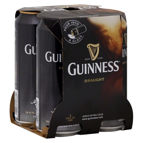 Guinness® Draught Beer - 4pk / 14.9oz Cans - image 1 of 1
