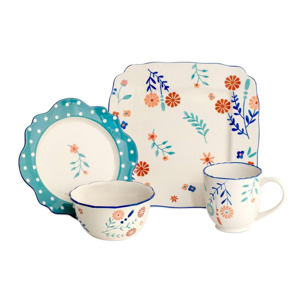 Image of 16pc Stoneware Blossoming Dinnerware Set - Baum Bros.
