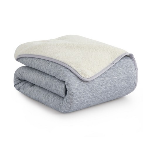Peace Nest Diamond knit and Sherpa Reversible Blanket - image 1 of 4