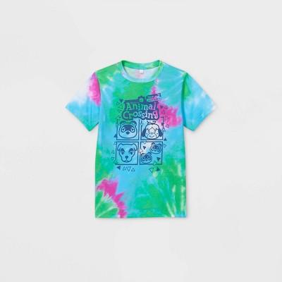 Boys' Nintendo Animal Crossing Tie-Dye Short Sleeve Graphic T-Shirt