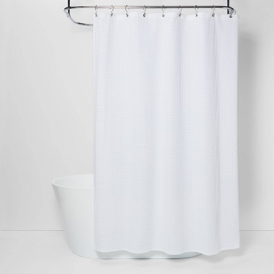 "72""x72"" Waffle Weave Shower Curtain White - Threshold™"