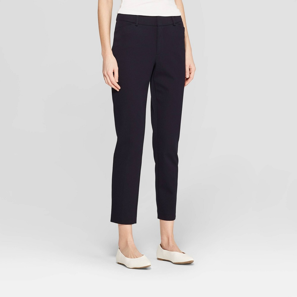 Women's Skinny High-Rise Ankle Pants - A New Day Federal Blue 8